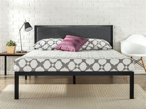 Wood Bed Frame With Headboard by 14 Inch Platform Metal Bed Frame With Upholstered