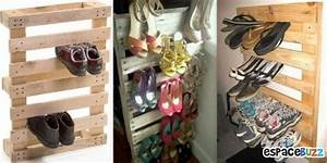 Idee Rangement Chaussure : rangement chaussures palette ~ Teatrodelosmanantiales.com Idées de Décoration