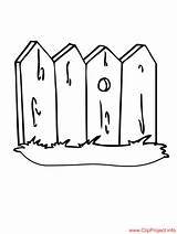 Coloring Pages Fence Fencing Sheet Fences Printable Buildings Sheets Coloringpagesfree sketch template
