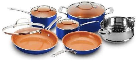 gotham steel  piece  stick cookware set copper cookware set cookware set cookware set
