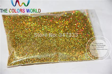 0.4mm Laser Light Gold Color Holographic Glitter For Nail