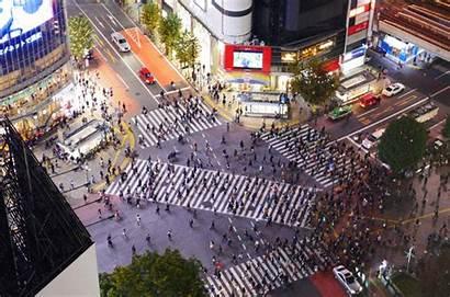 Shibuya Japan Crossing Crosswalk Tokyo Gifs Street