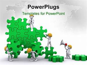 team building powerpoint presentation templates - powerpoint template business team work building puzzles
