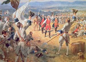 The Victory Of Montcalms Troops At Carillon Painting by