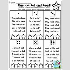 Fluency Roll And Read! Very Simple Sentences With Sight