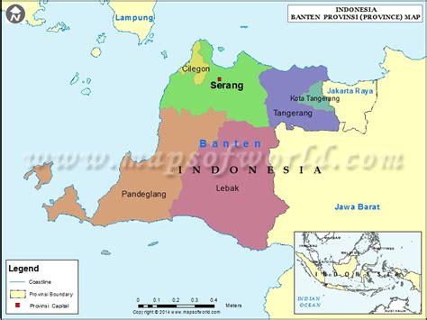 banten map map  banten province indonesia