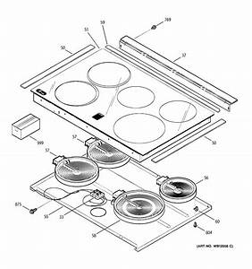 Cooktop Diagram  U0026 Parts List For Model Jsp42sk4ss Ge