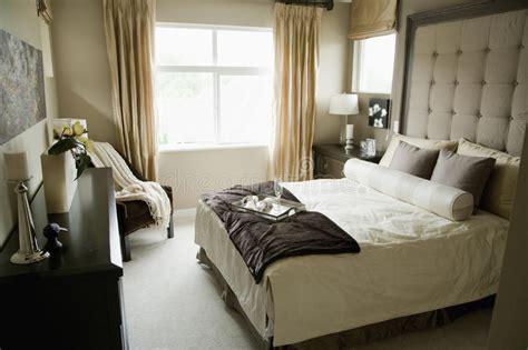 Monochromatic Bedroom Royalty Free Stock Photos