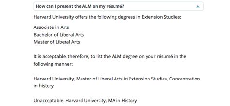 Harvard Extension Resume Guidelines by Harvard Extension School R 233 Sum 233 Guidelines Are Bogus