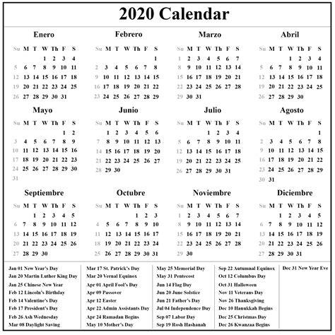 spanish calendar calendario calendar top