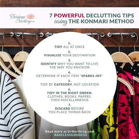 Konmari Methode by 7 Powerful Decluttering Tips Using The Konmari Method Via