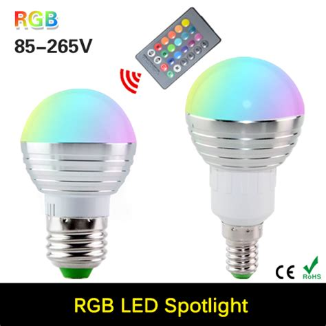 2016 new rgb led bulb e27 e14 3w led l light led