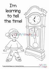 Colouring Learning Telling Tell Clocks Teaching Clock Activity Village Explore Activityvillage sketch template