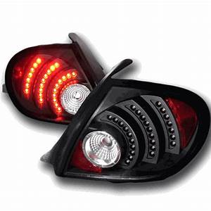 Depo 03 05 Dodge Neon Euro Altezza LED Tail Lights Black