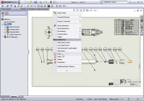 solidworks  copying drawing sheets
