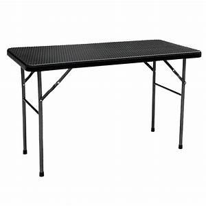 Table Pliante Noire : table pliante de jardin ikayaa 122cm noire style r sine ~ Teatrodelosmanantiales.com Idées de Décoration