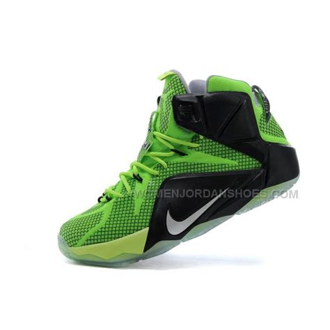 Shoes Cheap by Cheap Nike Lebron 12 Green Black Basketball Shoes On Sale