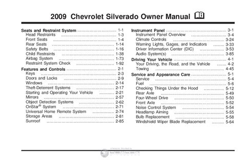 chevy silverado  lt owners manual owners manual