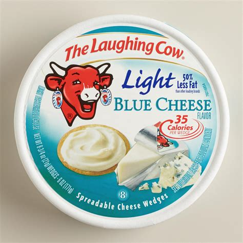 laughing cow cheese laughing cow light blue cheese set of 6 world market