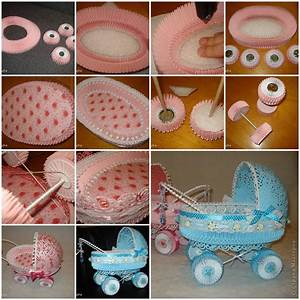 How to make Paper Stroller for Baby Showers DIY tutorial