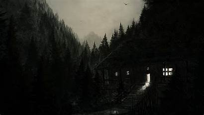Wallpapers Terror Rainy Night Painting Forest Rain