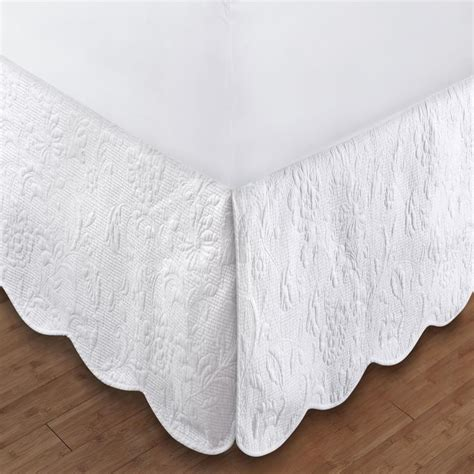 greenland gwyneth quilted bed skirt  drop twin full