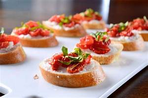 Roasted Tomato and Goat Cheese Crostini Life's Ambrosia