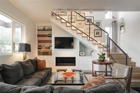 18+ Living Room Stairs Designs, Ideas