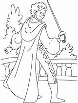 Prince Coloring Pages Colouring Zuko Medieval Sword Warrior Printable Alone Charming Clipart Practicing Handsome Library Animal Getcolorings Popular sketch template