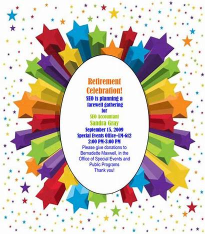 Retirement Clip Clipart Invitation Announcement Graphics Party