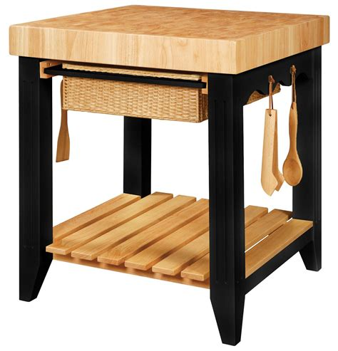 Powell Color Story 502416 Butcher Block Kitchen Island