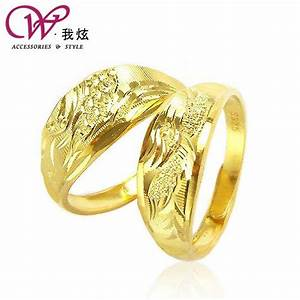 I hyun gold plated 925 sterling silver wedding ring on for Wedding rings phoenix az