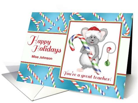 minute holiday cards   favorite teacher