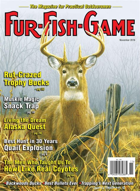 fur fish game magazine november subscription issues