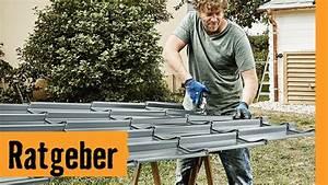 Gartenhaus Dach Blech : gartenhausdach decken mit blech hornbach meisterschmiede youtube ~ Watch28wear.com Haus und Dekorationen