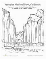 Coloring Dome Half Yosemite Designlooter National Park sketch template