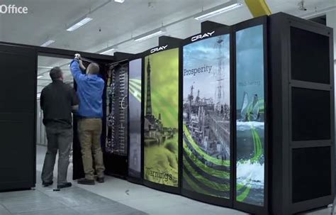 time lapse video installation  cray supercomputer  uk