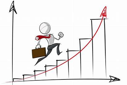 Growth Chart Business Exponential Simple Cartoon Vector