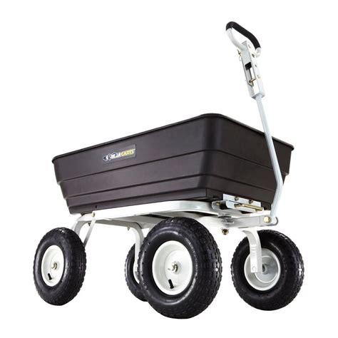 gorilla carts 1 000 lb heavy duty poly dump cart gor62