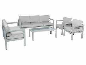 Salon Aluminium De Jardin : salon de jardin aluminium hesp ride mod le azua 7 places gris ~ Edinachiropracticcenter.com Idées de Décoration