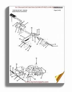 Cub Cadet Parts Manual For Model 1210 Sn 756300 799999