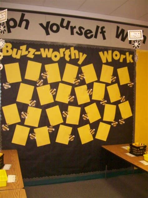 Bee Themed Classroom  This Is My Work Display Board The