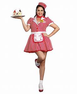 Plus Size Diner Doll Waitress Retro Womens Costume - Dreamgirl 9975X | eBay