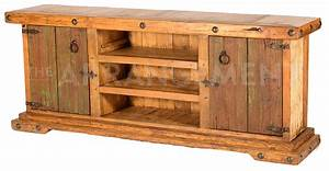 NEW! Old World Patina TV Stand Rustic Western Furniture