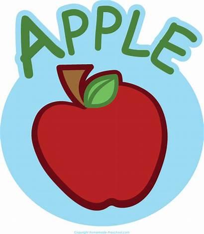Apple Clipart Clip Preschool Clipartpanda Save Circle