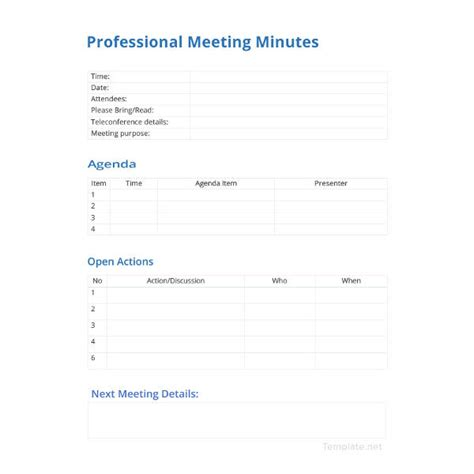 professional meeting minutes template 21 meeting minutes templates pdf doc free premium templates