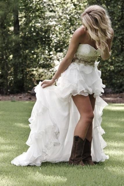country western wedding dresses beads sweetheart  boho