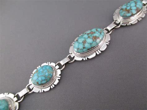 kingman turquoise link bracelet  kathy yazzie