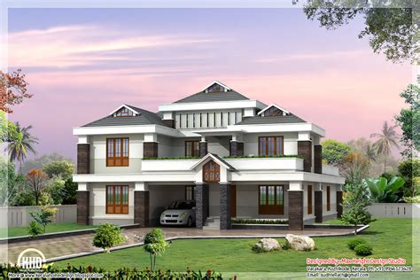 cute luxury indian home design kerala floor plans house