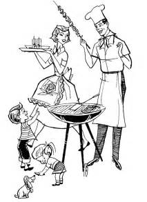 Family Cookout Clip Art Free